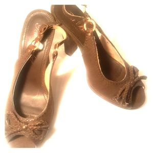 TED BAKER LONDON PEEP TOES SHOES !